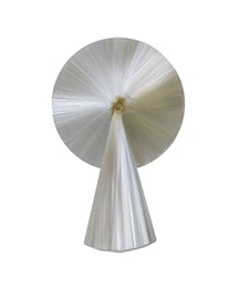 "3"" Spun Glass Halo with Tail ~ White"