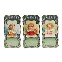 6 Victorian Children Gift Tags