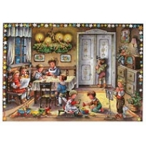 Christmas Preparations Traditional Style Advent Calendar