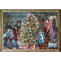 Family Christmas Victorian Style Advent Calendar