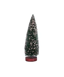 Undecorated Snowy Green Bottle Brush Tree ~ 6""
