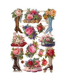Victorian Shoes, Roses and Floral Scraps ~ Germany ~ New for 2013