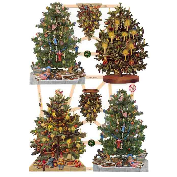 Large decorated christmas tree scraps germany new for 2013 Large decorated christmas trees