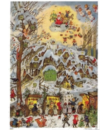 Snowy Christmas Market Advent Calendar ~ New for 2013