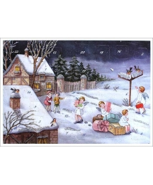"Angels Delivering Presents Advent Calendar ~ 11-5/8"" x 8-1/4"""
