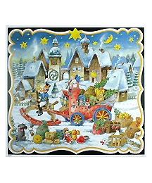 The Toy Sleigh Square Advent Calendar ~ Germany