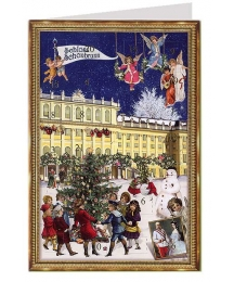 Vienna Schloss Schonbrunn Advent Calendar Card ~ Germany