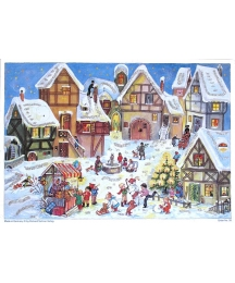 Snowy Village Christmas Square German Advent Calendar ~ New for 2012