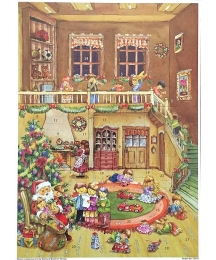 """Visiting with Santa Paper Advent Calendar ~ 10-1/4"""" by 14-1/4"""""""