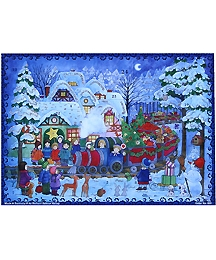 Children and Christmas Train Advent Calendar