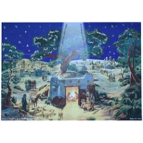 Nighttime Manger Religious Advent Calendar