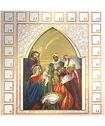 Beautiful Nativity and Star Advent Calendar ~ Made in Italy