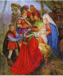 Gifts at the Manger Religious Advent Calendar ~ England
