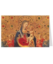 "Madonna with Angel Advent Calendar Card from Austria ~ 6-3/4"" x 4-1/2"""