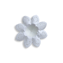 Petite Paper Lace Flower Bouquet Holders in White ~ 6