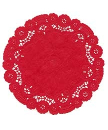 15 Fancy Red Doilies ~ 6""