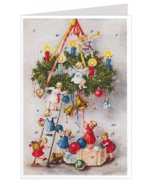 Angels Christmas Wreath Advent Calendar Card ~ Germany ~ New for 2013