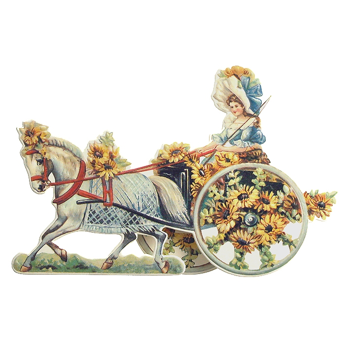 Standing Daisy Carriage Card