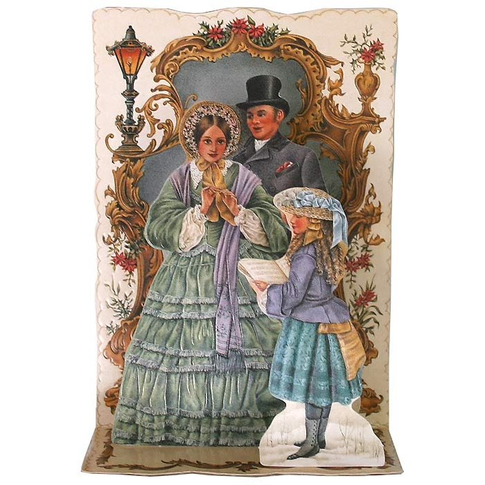 Christmas Decorations In Victorian England: Pop-up Dickensian Carolers Christmas Card