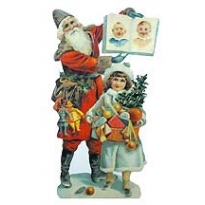 Naughty or Nice Santa Christmas Card ~ England