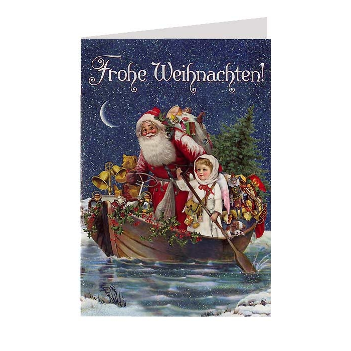 Wooden boat Christmas cards?
