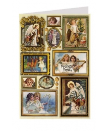 Angels in Frames Christmas Card ~ Germany