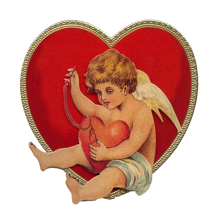 Cupid Mending Heart Standing 3-D Valentine Card ~ England