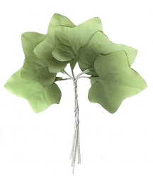 Set of 6 Green Ombre Fabric Ivy Leaves ~ Czech Repub.