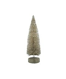 Vintage Style Dark Ivory Bottle Brush Tree ~ 6""
