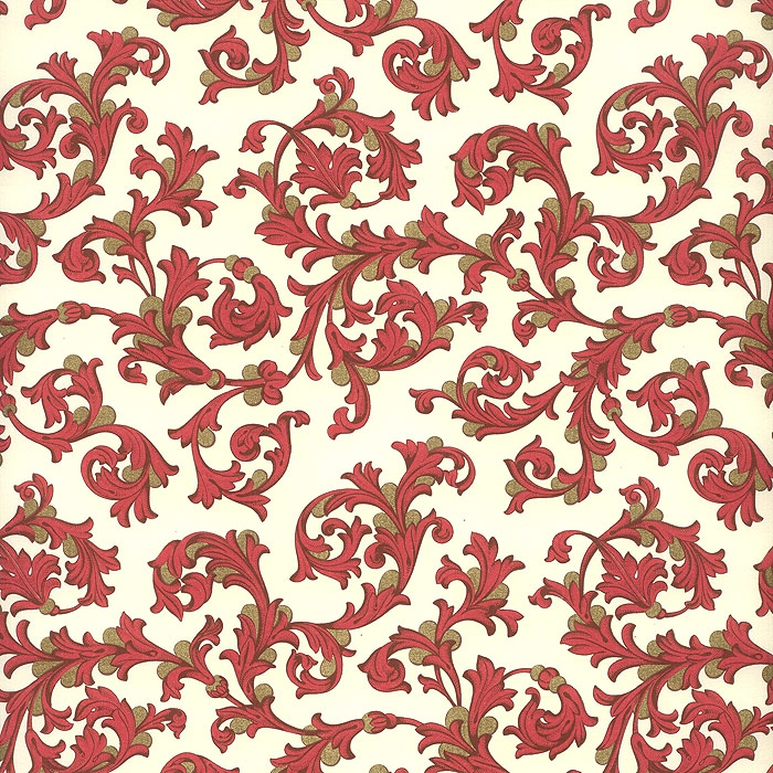 ... Decoupage Papers » Red and Gold Florentine Print Paper ~ Rossi Italy